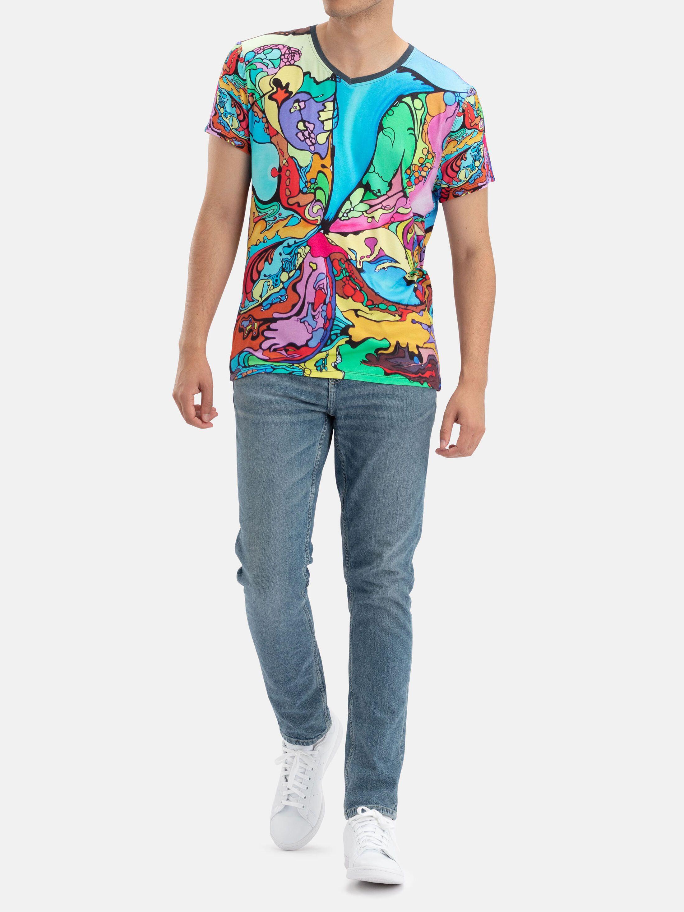 Custom Men's V Neck T-Shirts