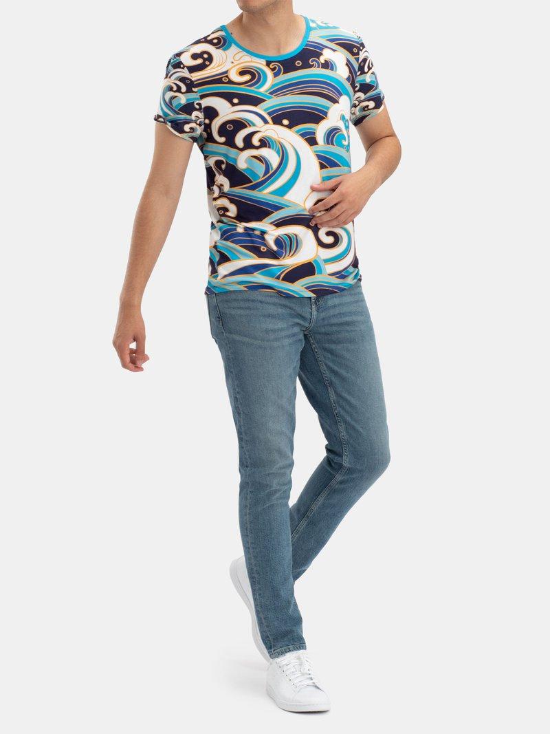 Men's Printed Crew Neck T-Shirt
