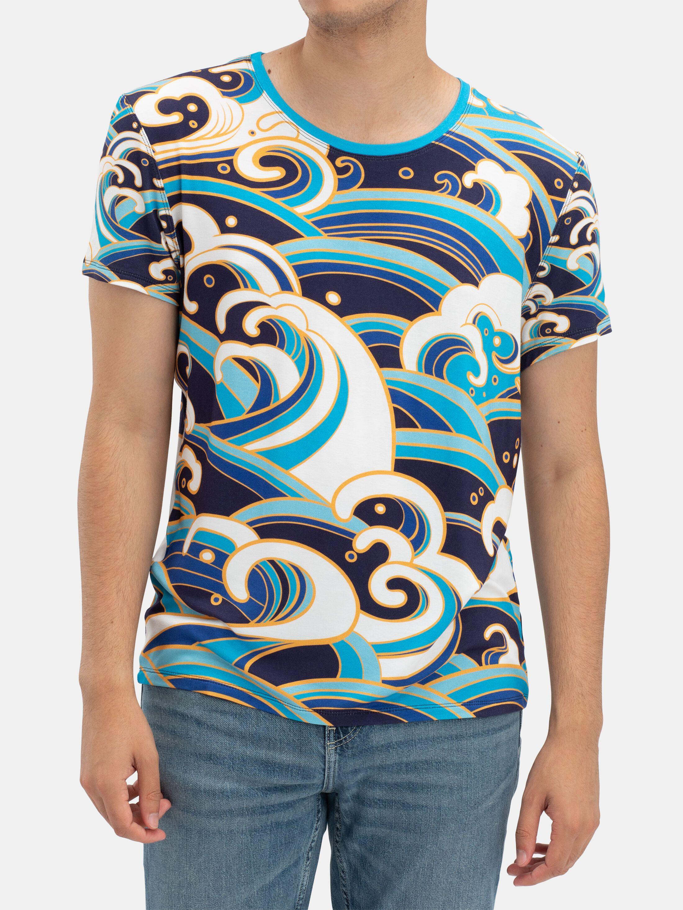 Printed Crew Neck T Shirt handmade in UK