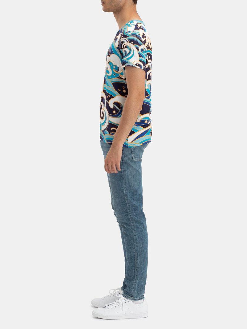 Printed Crew Neck T Shirt