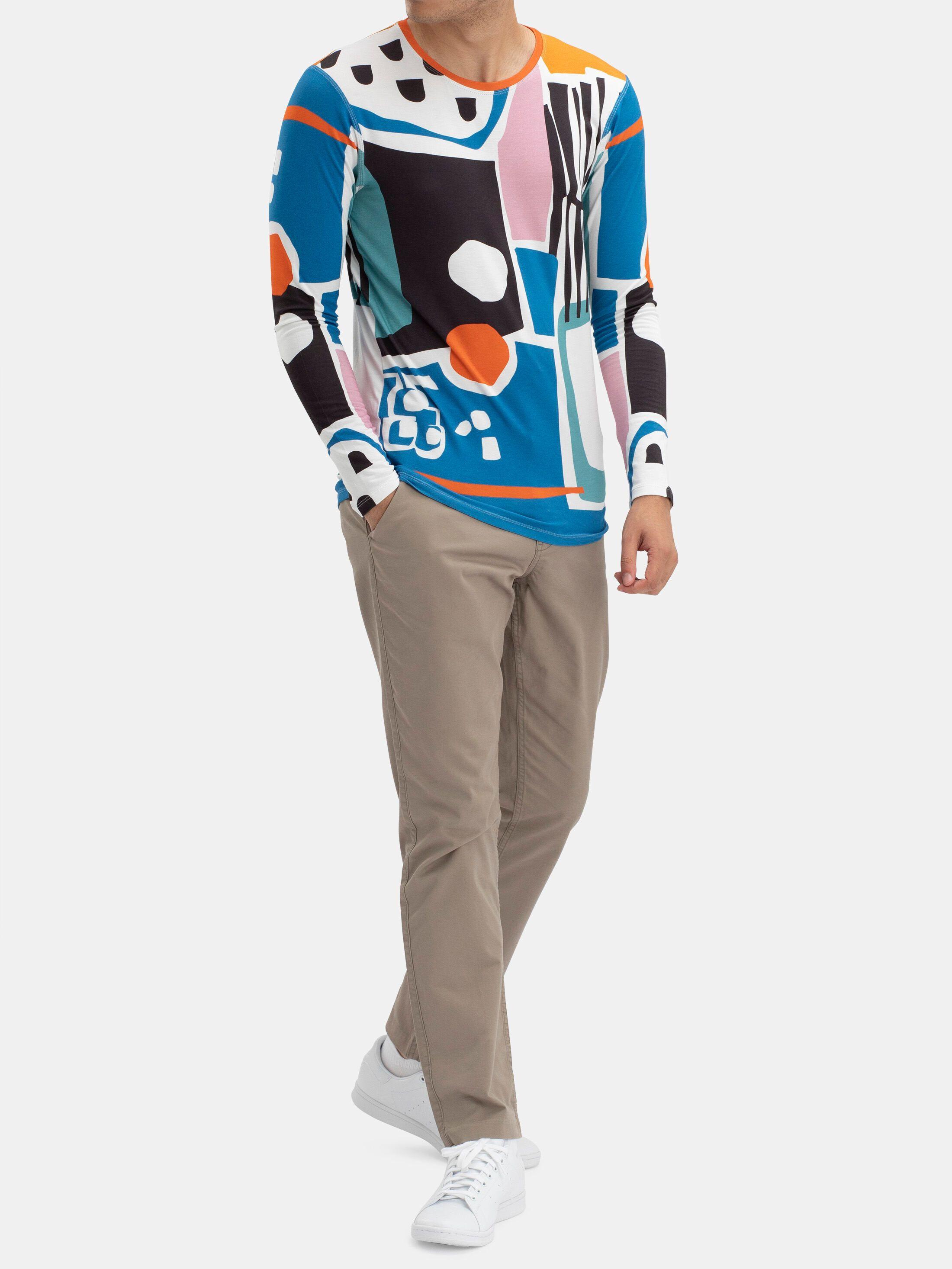 Men's Custom Slim Fit Long Sleeve Jersey T-Shirt