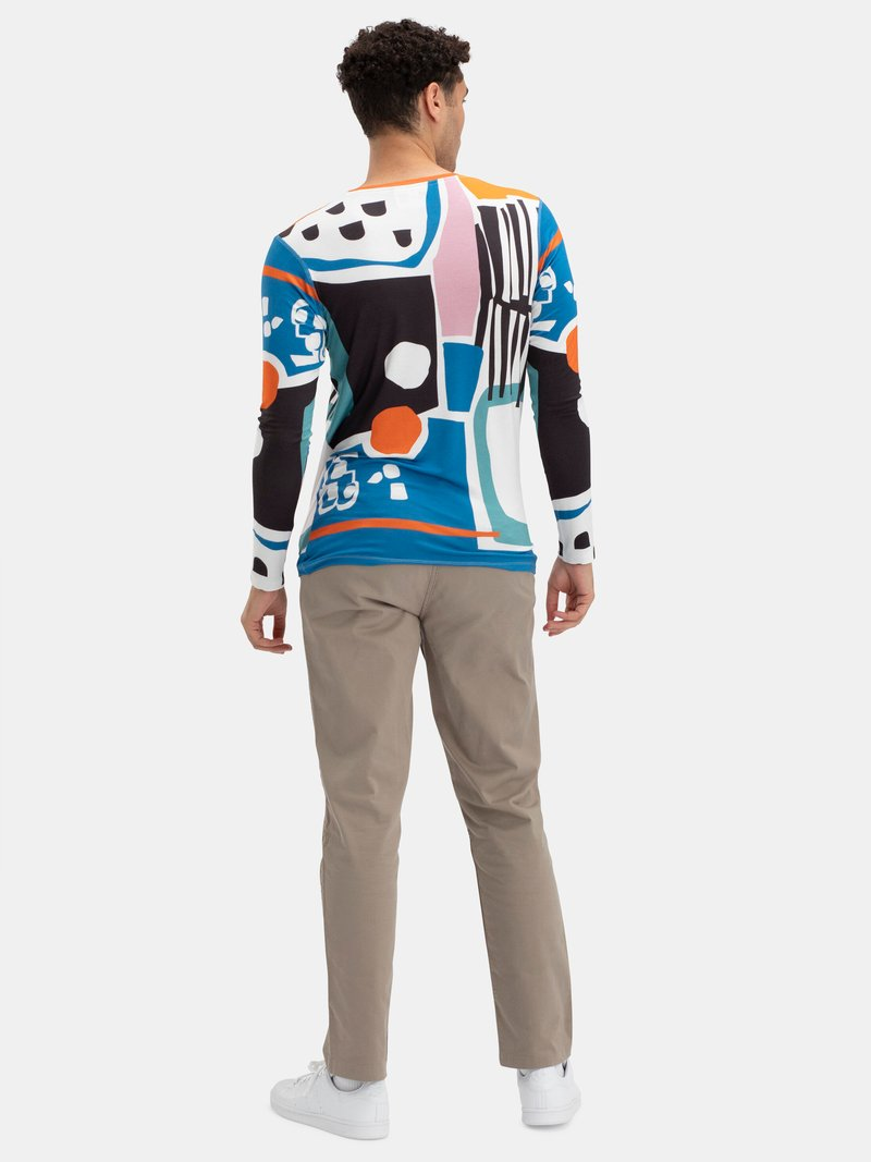 Men's Slim Fit Long Sleeve Jersey T-Shirt