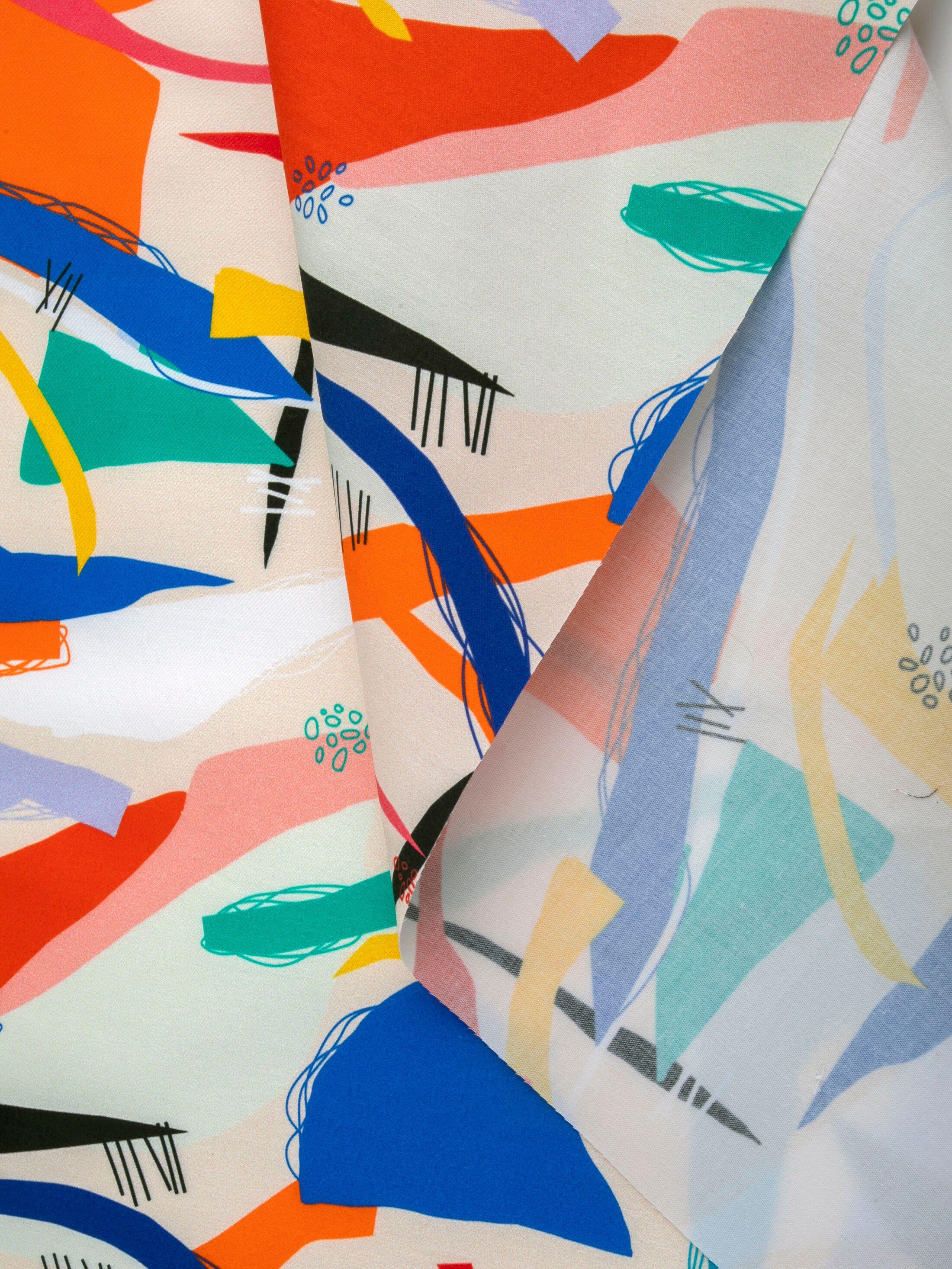 custom printed cotton sateen reverse side
