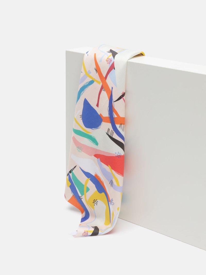 custom printed cotton sateen drape
