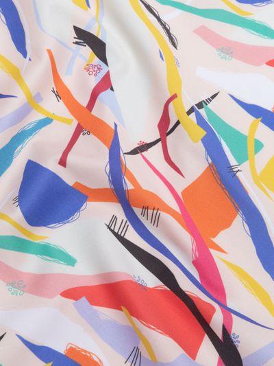 custom printed cotton sateen fabric