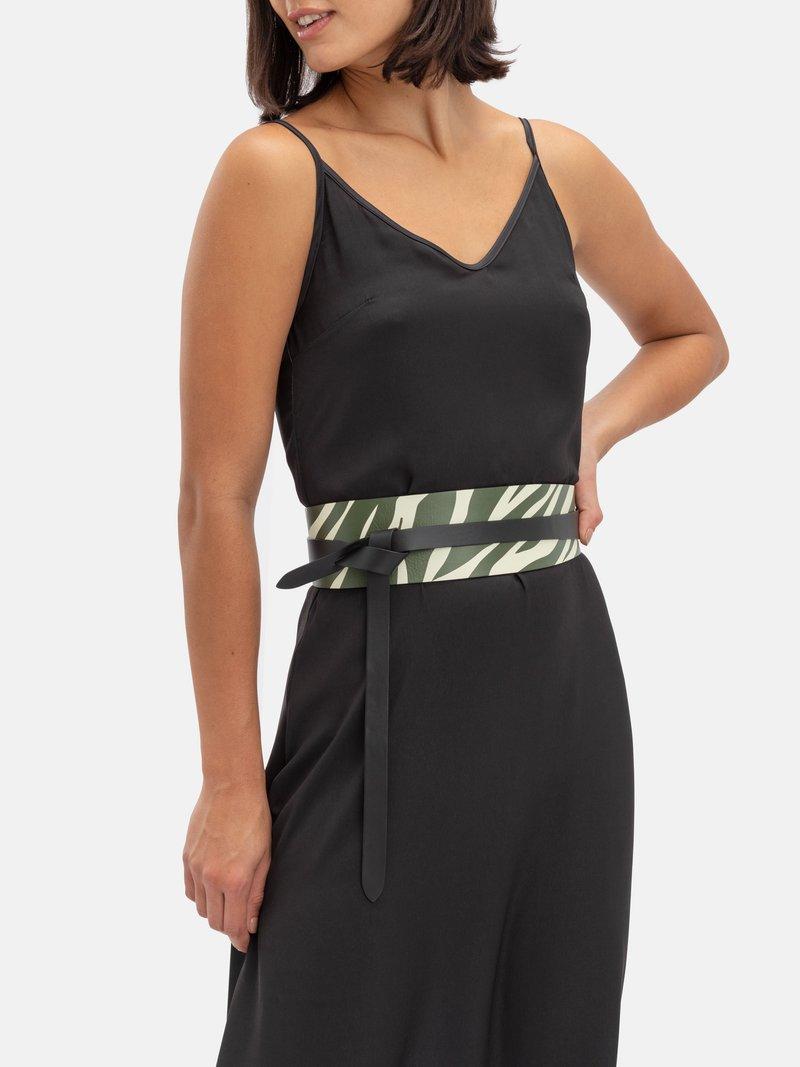leather wrap belt custom printed design
