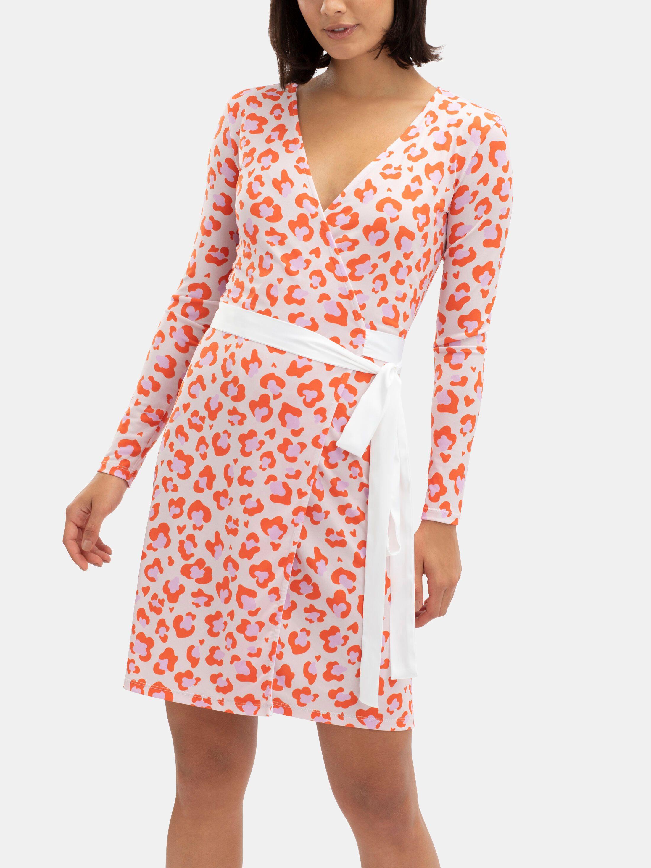 long sleeve custom wrap dress uk