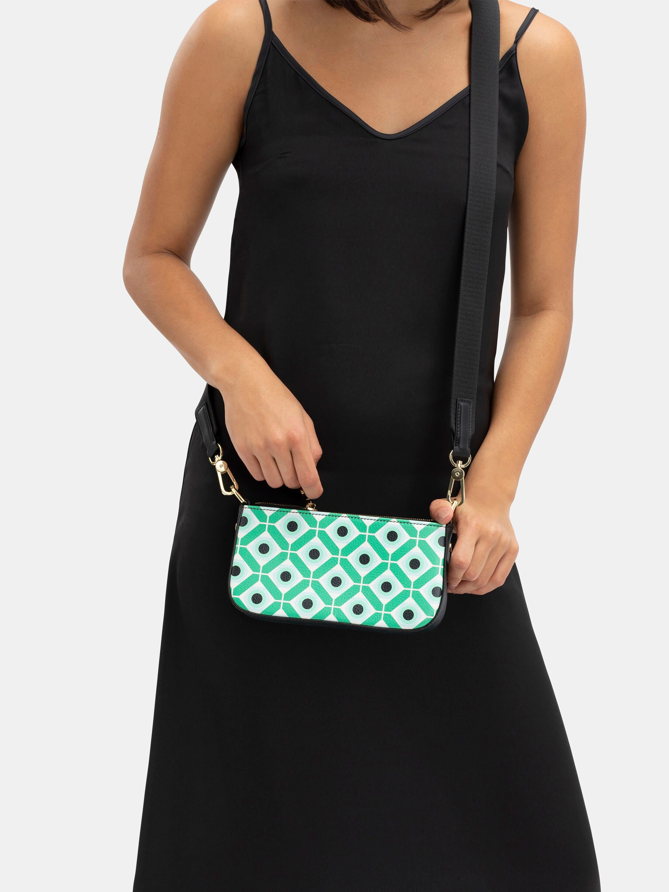 custom leather zip bag