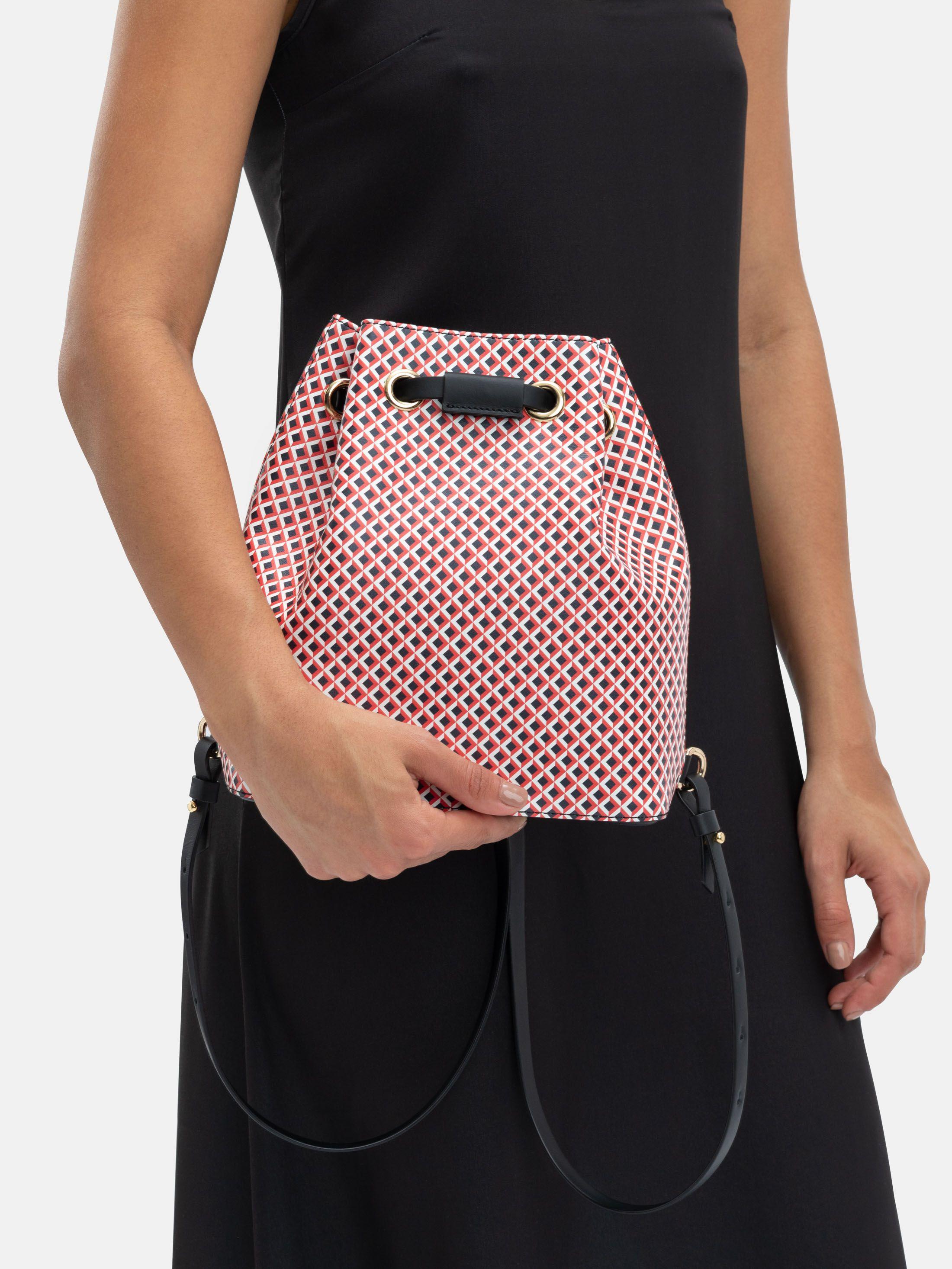 printed drawstring backpack custom design