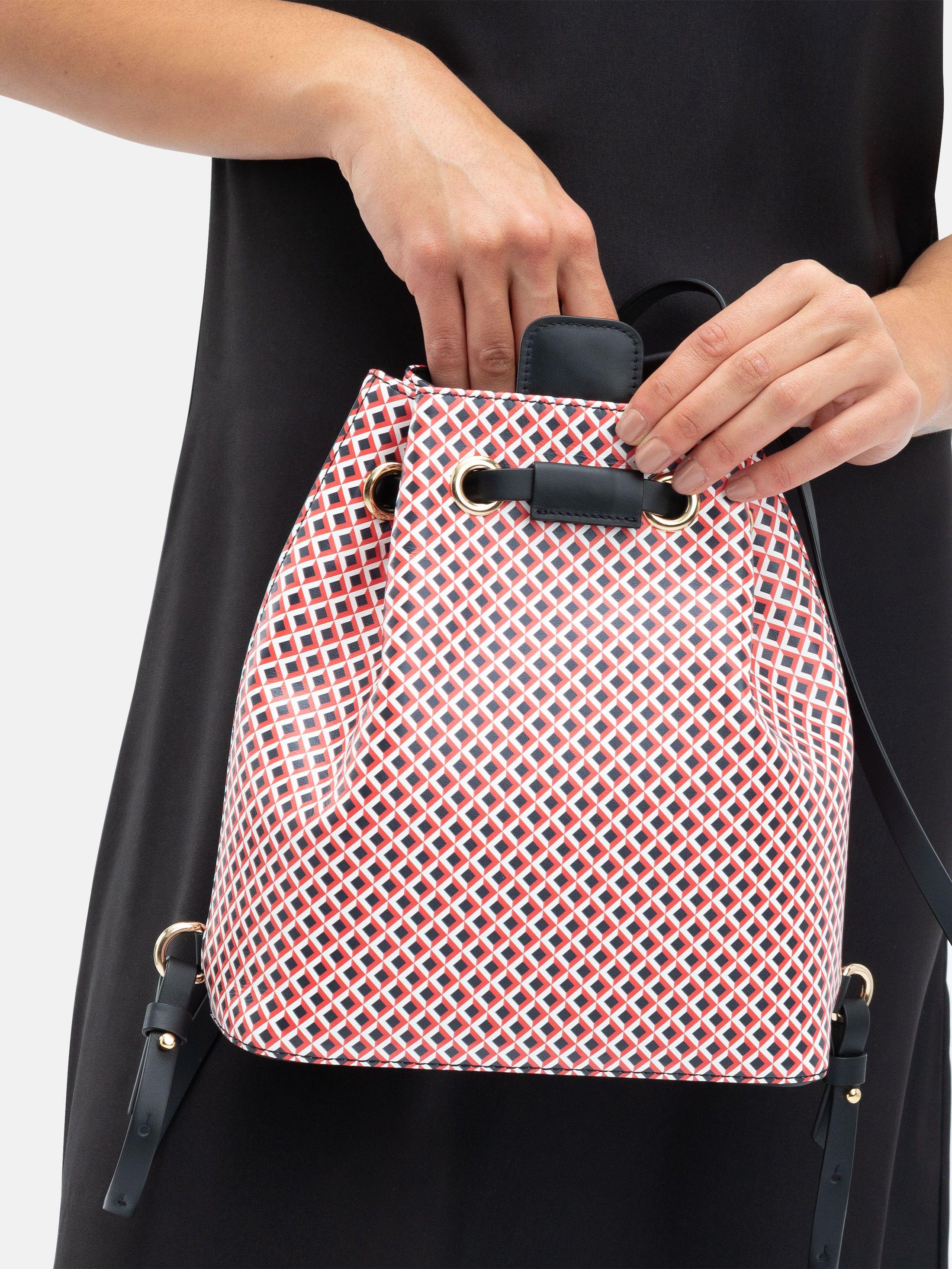mochila saco personalizada de cuero