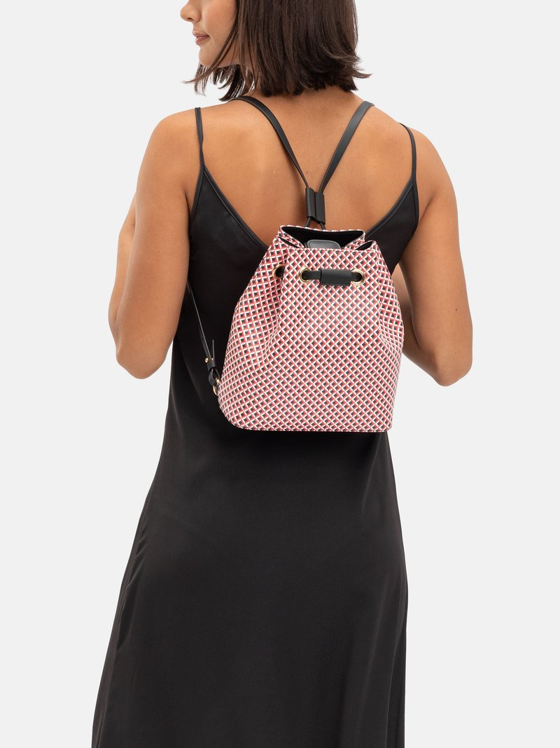Custom leather printed Drawstring Backpack